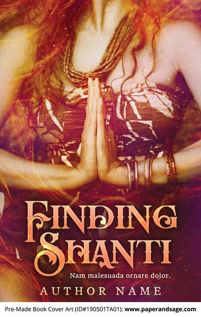 Pre-Made Book Cover ID#190501TA01 (Finding Shanti)