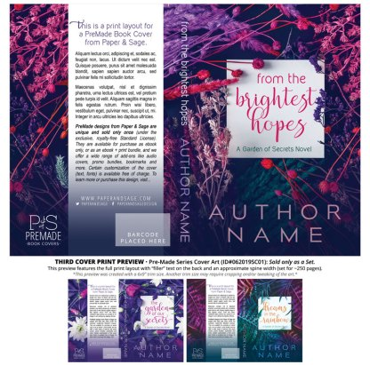 PreMade Series Covers ID#062019SC01 (Garden of Secrets Series, Only Sold as a Set)