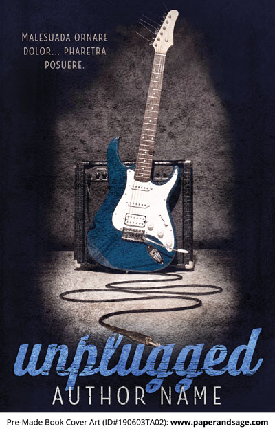 Pre-Made Book Cover ID#190603TA02 (Unplugged)