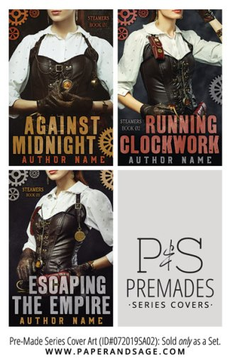 PreMade Series Covers ID#072019SA02 (Steamers Series, Only Sold as a Set)