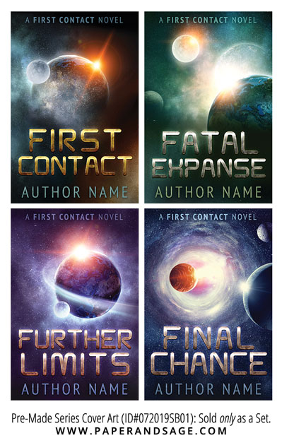 PreMade Series Covers ID#072019SB01 (First Contact Series, Only Sold as a Set)
