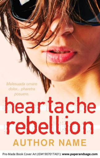 Pre-Made Book Cover ID#190701TA01 (Heartache Rebellion)
