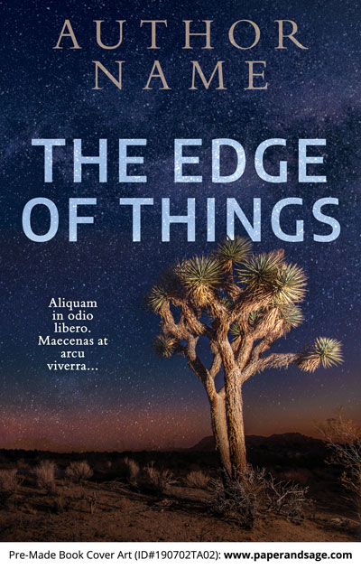 Pre-Made Book Cover ID#190702TA02 (The Edge of Things)