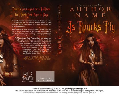 Pre-Made Book Cover ID#190712TA02 (As Sparks Fly)