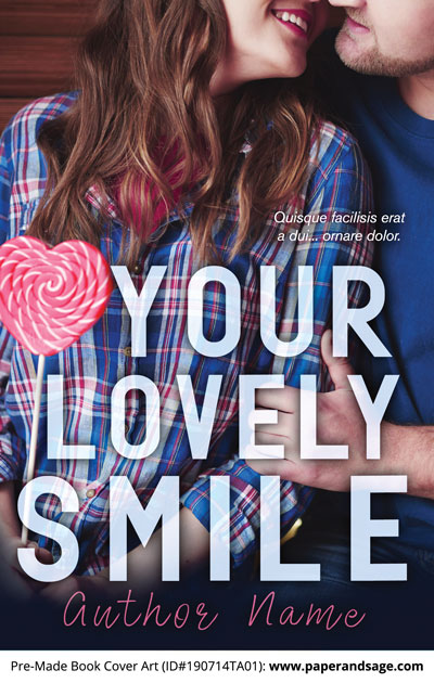 Pre-Made Book Cover ID#190714TA01 (Your Lovely Smile)