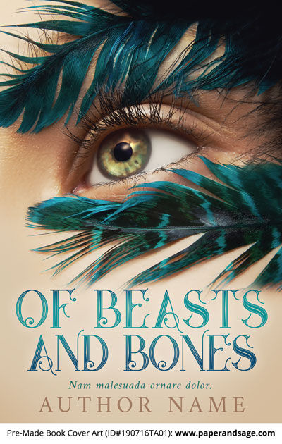 Pre-Made Book Cover ID#190716TA01 (Of Beasts and Bones)