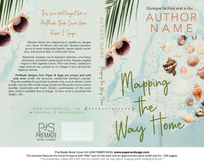 Pre-Made Book Cover ID#190805TA02 (Mapping the Way Home)