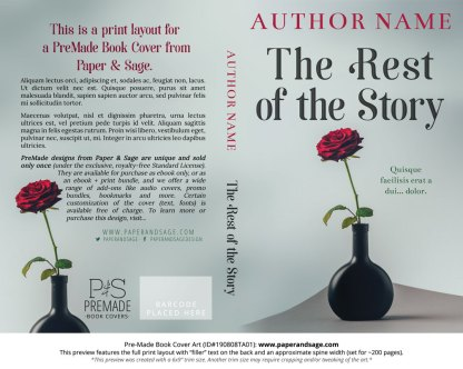 Pre-Made Book Cover ID#190808TA01 (The Rest of the Story)