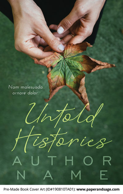 Pre-Made Book Cover ID#190810TA01 (Untold Histories)