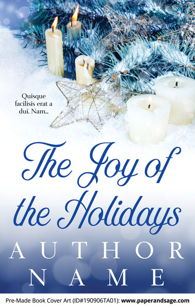 Pre-Made Book Cover ID#190906TA01 (The Joy of the Holidays)