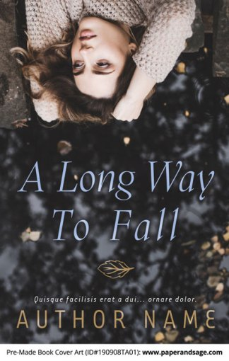 Pre-Made Book Cover ID#190908TA01 (A Long Way to Fall)