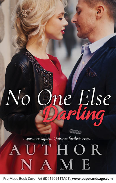 Pre-Made Book Cover ID#190911TA01 (No One Else Darling)