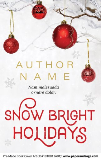 Pre-Made Book Cover ID#191001TA01 (Snow Bright Holidays)