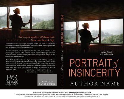 Pre-Made Book Cover ID#191002TA01 (Portrait of Insincerity)