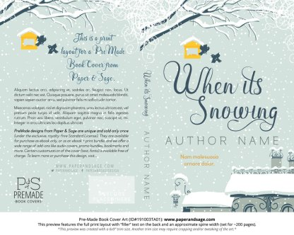 Pre-Made Book Cover ID#191003TA01 (When it's Snowing)