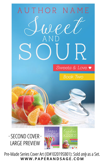 PreMade Series Covers ID#102019SB01 (Sweets and Love Series, Only Sold as a Set)
