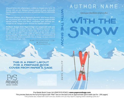 Pre-Made Book Cover ID#191014TA01 (With the Snow)