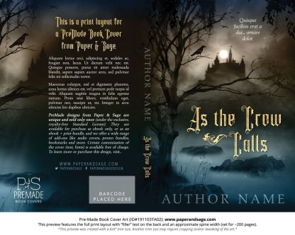 Pre-Made Book Cover ID#191103TA02 (As the Crow Calls)