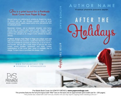 Pre-Made Book Cover ID#191108TA01 (After the Holidays)