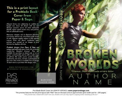 Pre-Made Book Cover ID#191109TA01 (Broken Worlds)