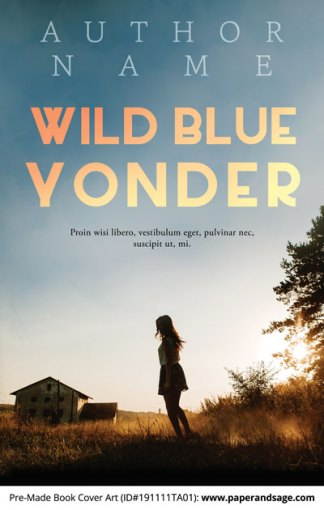 Pre-Made Book Cover ID#191111TA01 (Wild Blue Yonder)