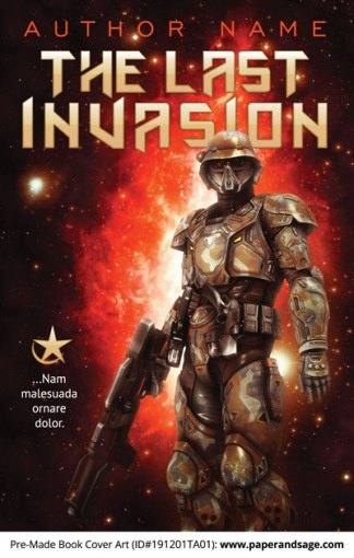 Pre-Made Book Cover ID#191201TA01 (The Last Invasion)