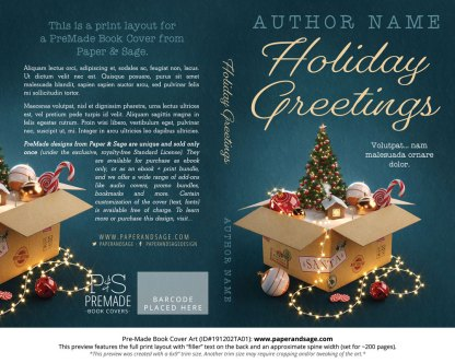 Pre-Made Book Cover ID#191202TA01 (Holiday Greetings)