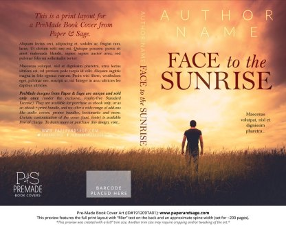 Pre-Made Book Cover ID#191209TA01 (Face to the Sunrise)