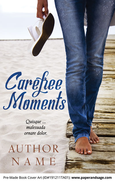 Pre-Made Book Cover ID#191211TA01 (Carefree Moments)