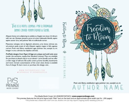 Pre-Made Book Cover ID#200104TA01 (Freedom to Bloom)