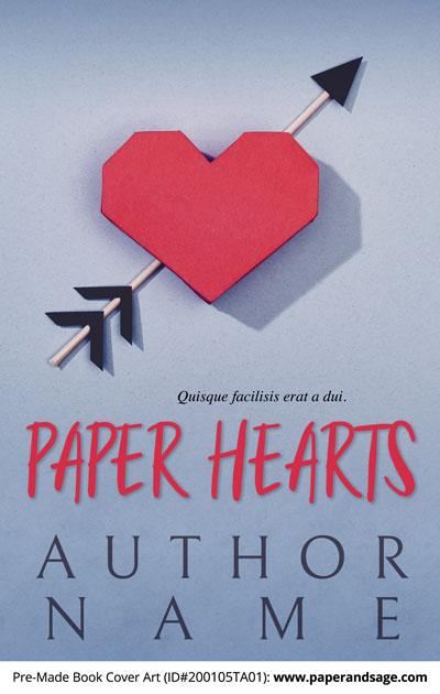 Pre-Made Book Cover ID#200105TA01 (Paper Hearts)