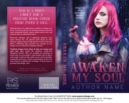 Pre-Made Book Cover ID#200107TA02 (Awaken My Soul)