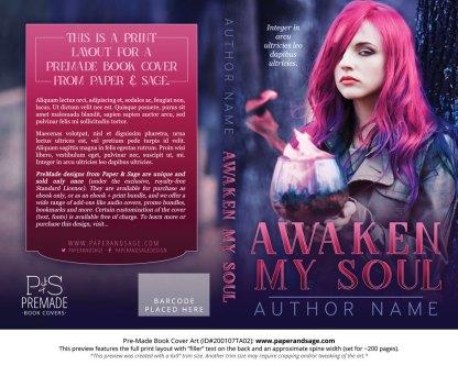 Pre-Made Book Cover ID#200107TA02 (Awaken My Soul)