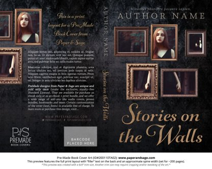 Pre-Made Book Cover ID#200110TA02 (Stories on the Walls)