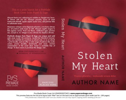 Pre-Made Book Cover ID#200202TA01 (Stolen My Heart)