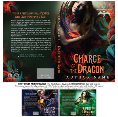 PreMade Series Covers ID#072018SA02 (Charge of the Dragon Series, Only Sold as a Set)