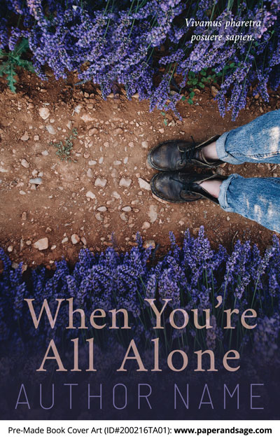 Pre-Made Book Cover ID#200216TA01 (When You're all Alone)