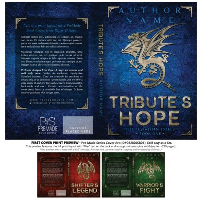 PreMade Series Covers ID#032020SB01 (The Leviathan Trials Series, Only Sold as a Set)