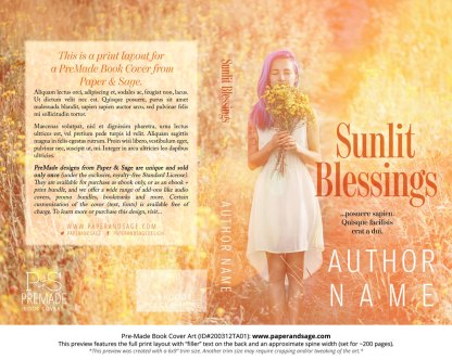 Pre-Made Book Cover ID#200312TA01 (Sunlit Blessings)