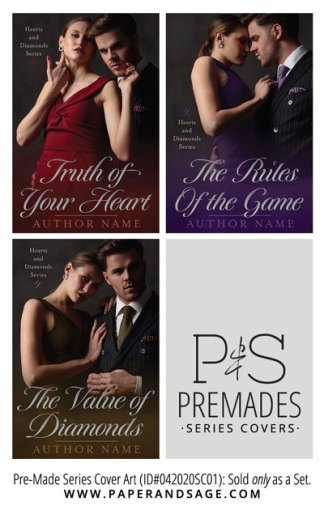 PreMade Series Covers ID#042020SC01 (The Hearts & Diamonds Series, Only Sold as a Set)