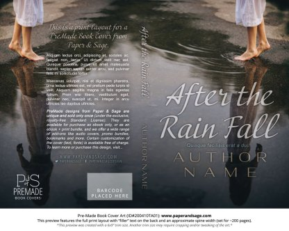 Pre-Made Book Cover ID#200410TA01 (After the Rain Fall)