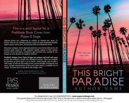 Pre-Made Book Cover ID#200505TA01 (This Bright Paradise)