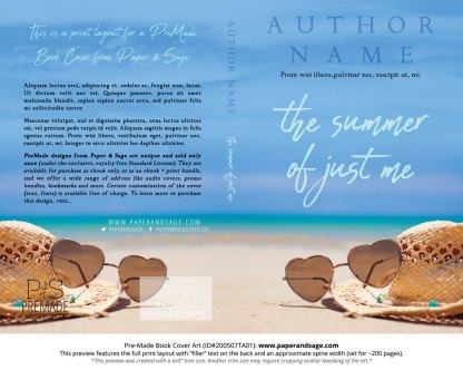 Pre-Made Book Cover ID#200507TA01 (The Summer of Just Me)