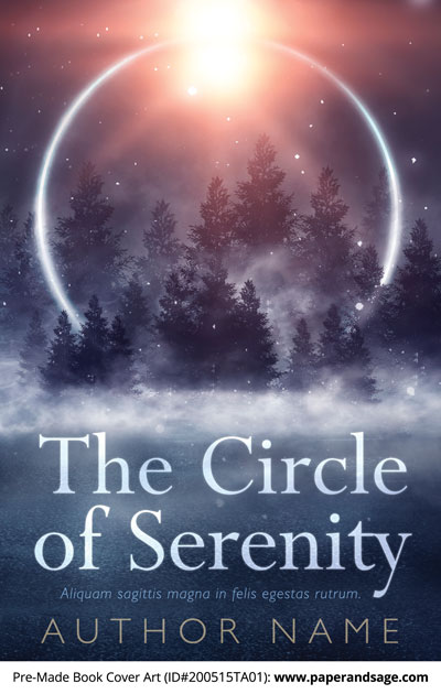 Pre-Made Book Cover ID#200515TA01 (The Circle of Serenity)