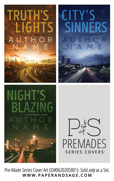 PreMade Series Covers ID#062020SB01 (City Nights Series, Only Sold as a Set)