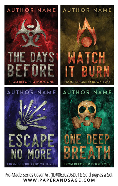 PreMade Series Covers ID#062020SD01 (From Before Series, Only Sold as a Set)