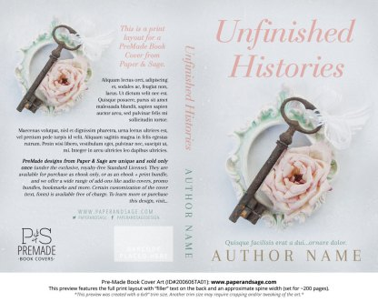 Pre-Made Book Cover ID#200606TA01 (Unfinished Histories)