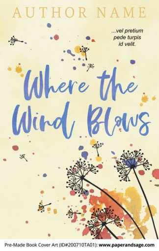Pre-Made Book Cover ID#200710TA01 (Where the Wind Blows)