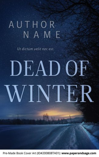 Pre-Made Book Cover ID#200808TA01 (Dead of Winter)