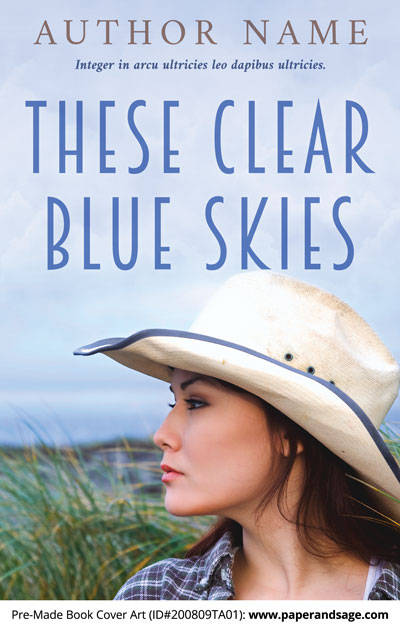 Pre-Made Book Cover ID#200809TA01 (These Clear Blue Skies)